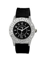 TRENDY FASHION Black Silicon Strap , Silver Case, Black Dial BY FASHION DESTINATION
