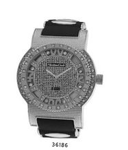 TRENDY FASHION Black/Silver Bullet Band Silicon Strap , Heavy Silver Case, Silver Dial BY FASHION DESTINATION
