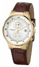 Kenneth Cole KC1345 Reaction Gold-Tone Brown Leather