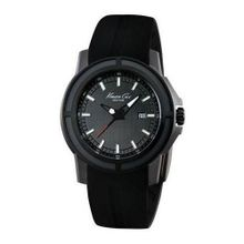 Kenneth Cole Black Round Silicone Analog KC1942