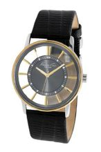 Kenneth Cole KC1896 Black Leather Quartz with Grey Dial