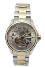 Kenneth Cole KC9127 See-Thru Silver Skeletonized Dial Two Tone SS