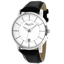 Kenneth Cole KCW1011 New York White Dial Black Leather Strap Date