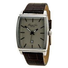Kenneth Cole KCW1028 Stainless Steel Analog Brown Leather Band