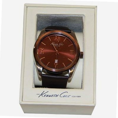 Kenneth Cole KCW1037 New York Brown Dial Leather Strap Quartz