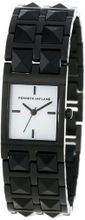 Kenneth Jay Lane 1516 1500 Series Mother of Pearl Dial Black Ion-Plated Stainless Steel & Black Resin