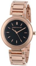 Kenneth Jay Lane 2011 Black/Rose Gold Ion-Plated