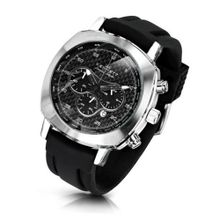 KENNETT Quartz with Black Dial Chronograph Display and Black Plastic or PU Strap 2001.4302