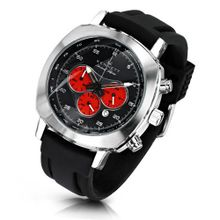KENNETT Quartz with Black Dial Chronograph Display and Black Plastic or PU Strap 2001.4305