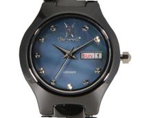 Black Ceramic Small Mother of Pearl Dial Day Date Konigswerk CQ42L