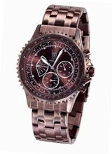 Bracelet Brown Big Dial Diamond Accent Multifunction Day Date Konigswerk AQ101102G