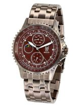 Brown Bracelet Multifunction Diamond Accent Dial Day Date Moon Phase Konigswerk SQ201444G