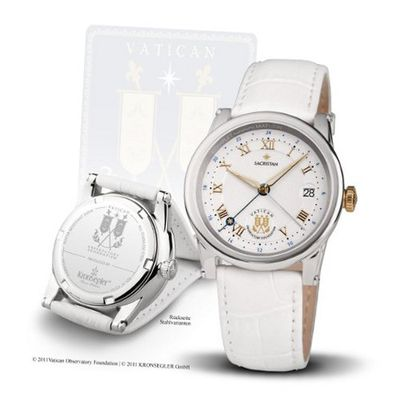 "Official Vatican Observatory ""Sacristan"" - Ladies Quartz bicolor-white"
