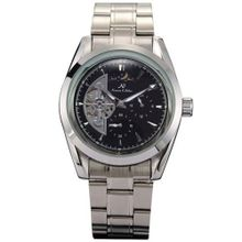 KS 24 Hours Analogue Black Automatic Mechanical Date & Day  Steel New KS056