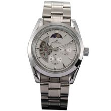KS 24 Hours Analogue White Automatic Mechanical Date & Day  Steel New KS057