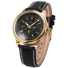 KS 6 Hands Gold Case White Dial Date Day  Automatic Mechanical Wrist KS095