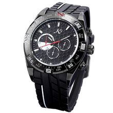 KS Automatic Mechanical 6 Hands Day Date  Black Dial Rubber Sport Wrist KS077
