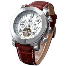 KS Automatic Mechanical Leather White Dial Luxury Wrist KS020