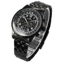 KS Aviator 6 Hands Date Black Dial Wrist Sport  Automatic Mechanical Wrist KS100