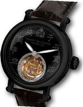 Happy Buddha Tourbillon with Black Characters on Onyx Dial - Black Case Limited Edition