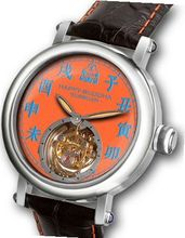 Happy Buddha Tourbillon with Blue Characters on Mandarin Orange Dial Limited Edition