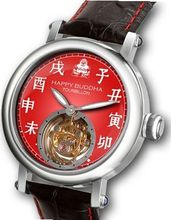 Happy Buddha Tourbillon with Luminous Characters on Deep Red Fisheye Dial Limited Edition