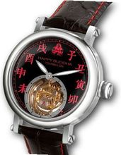Happy Buddha Tourbillon with Red Characters on Onyx Dial Limited Edition - Lady Size