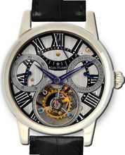 KULTUhR Automatic Self Winding Tourbillon with Anthracite and Black Hand-Skeletonized Dial Limited Edition
