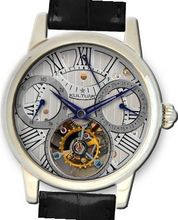 KULTUhR Automatic Self Winding Tourbillon with Anthracite and Silver Hand-Skeletonized Dial Limited Edition