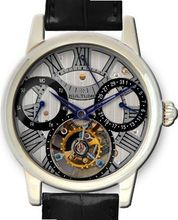 KULTUhR Automatic Self Winding Tourbillon with Black and Anthracite Hand-Skeletonized Dial Limited Edition