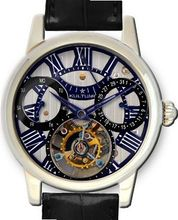 KULTUhR Automatic Self Winding Tourbillon with Black and Bluish Hand-Skeletonized Dial Limited Edition