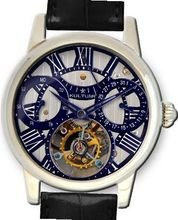 KULTUhR Automatic Self Winding Tourbillon with BluishHand-Skeletonized Dial Limited Edition
