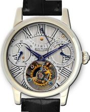 KULTUhR Automatic Self Winding Tourbillon with Silver Hand-Skeletonized Dial Limited Edition