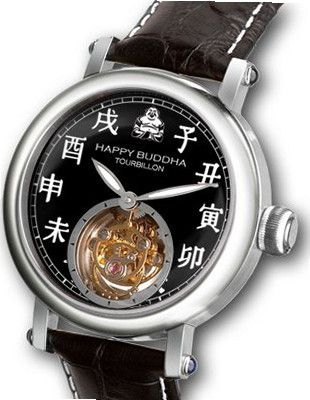 uKULTUhR Happy Buddha Tourbillon with White Characters on Onyx Dial Limited Edition