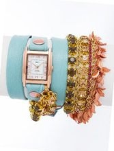 La Mer Collections - Amalfi Chandelier Crystal Leather Wrap