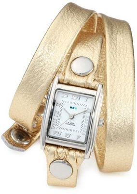 La Mer Collections LMMTW1001 Metallic Gold Triple Wrap