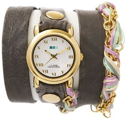 La Mer - Grey Friendship Bracelet Wrap