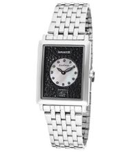"ââ'¬â""¢s GranDame Black & White Swarovski Crystal White MOP/Black Dial Stainless Steel"