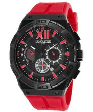 Acquascope Chronograph Black Textured Dial Red Silicone