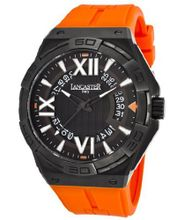 Acquascope Tempo Black Textured Dial Orange Silicone
