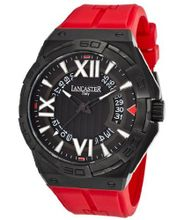 Acquascope Tempo Black Textured Dial Red Silicone