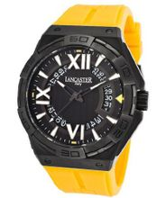 Acquascope Tempo Black Textured Dial Yellow Silicone