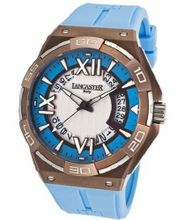Acquascope Tempo Silver Textured & Light Blue Dial Light Blue Silicone