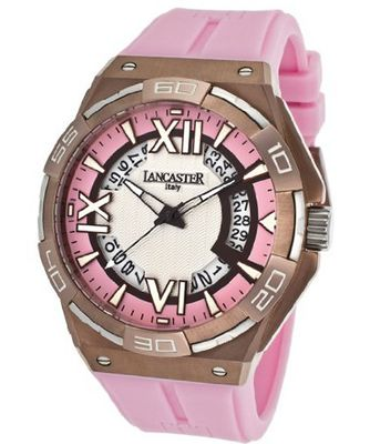 Acquascope Tempo Silver Textured & Pink Dial Pink Silicone