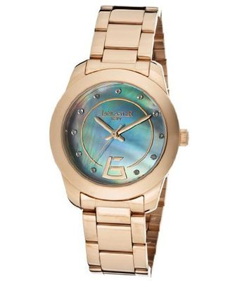Blue Mother Of Pearl Dial Rose Gold Tone Ion Plated Stainless Steel