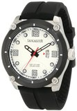 Lancaster OLA0480BN Trendy Light Silver Textured Dial Black Silicone