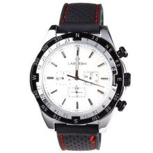 Laogeshi Classic Six Hands Calendar Date Day Rubber Band  Mechanical Wrist White