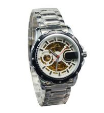 Laogeshi  White Stainless Steel Hand wind Mechanical