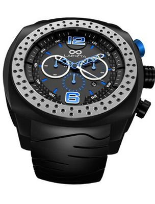 LAPIZTA Accentor 48mm Chronograph Racing - Black and Blue L23.1601