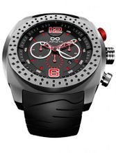 LAPIZTA Accentor 48mm Chronograph Racing - Stainless Steel and Red L23.1605
